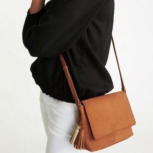 Old navy brown suede tassel crossbody purse